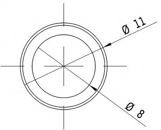 Pont lézermodul, piros, 1 mW Picotronic DA635-1-3(11x60)
