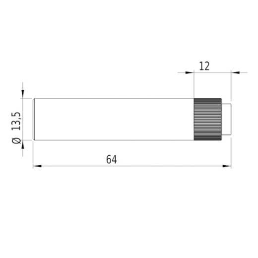 Pont lézermodul, piros, 1 mW Picotronic DC650-1-4.5(14x64)-S-AP