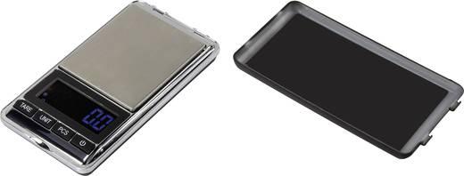 Zsebmérleg max. 500 g/0,1 g, ezüst, Basetech SJS-60007