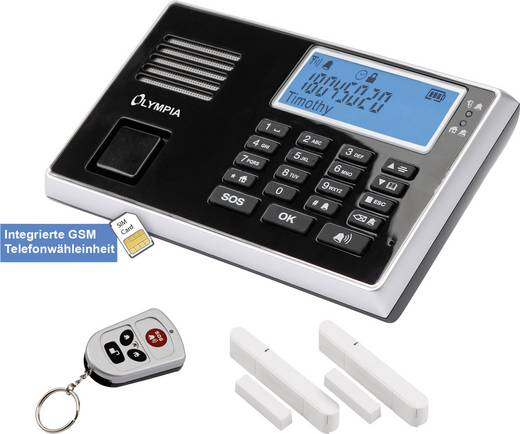 Vezeték nélküli GSM riasztó készlet, Olympia 5903
