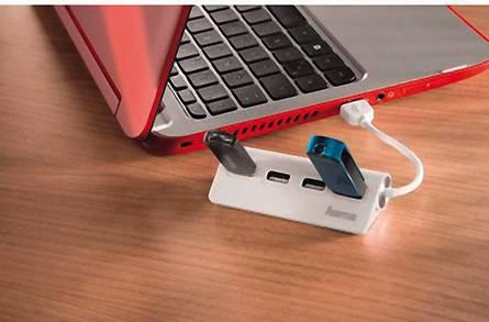 4 részes USB 2.0 elosztó hub, fehér, Hama 12178