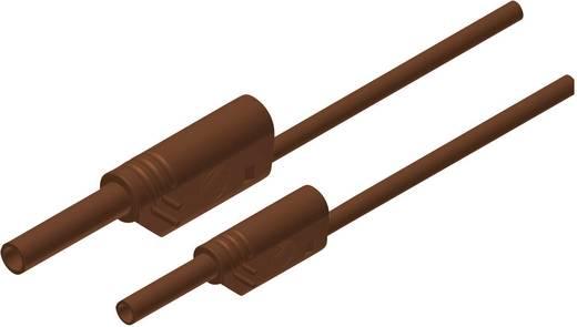 Mérőzsinór, szigetelt mérővezeték 2/4mm-es toldható banándugóval 1 mm², 1m, barna SKS Hirschmann MAL S WS 2-4 100/1 Au
