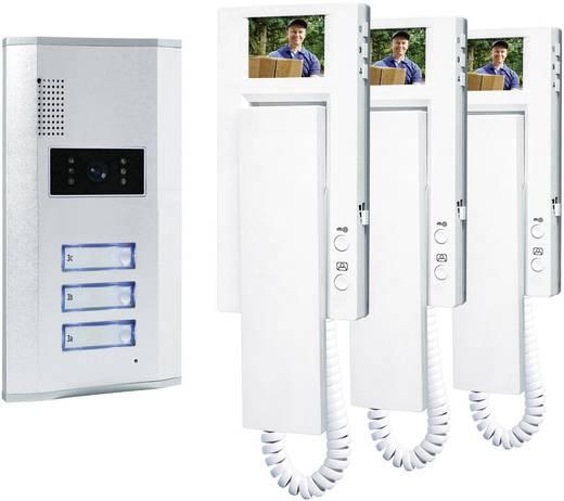 Vezetékes video kaputelefon rendszer, 3 családi házhoz, Smartwares VD63 SW 3
