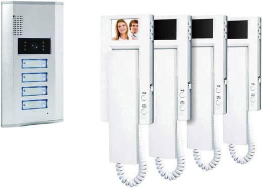 Vezetékes video kaputelefon rendszer, 4 családi házhoz, Smartwares VD64 SW 4