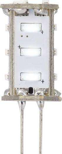 LED-es fényforrás, 30 mm12 V G4 0.8 W = 8 W Nappalifény-fehér, Renkforce