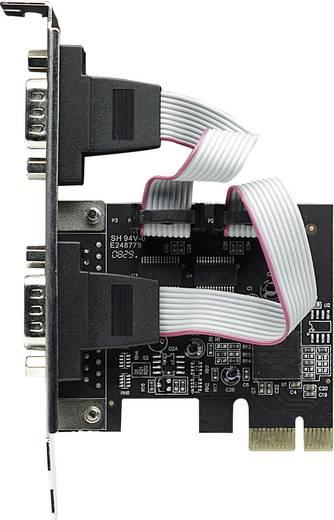 Soros portos 2 port csatlakozós PCIe plug-in kártya Manhattan 158169