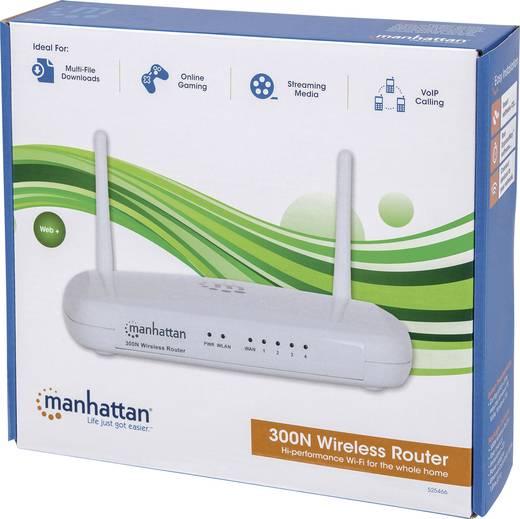 WLAN vezeték nélküli router 2.4 GHz 300 Mbit/s Manhattan 525466