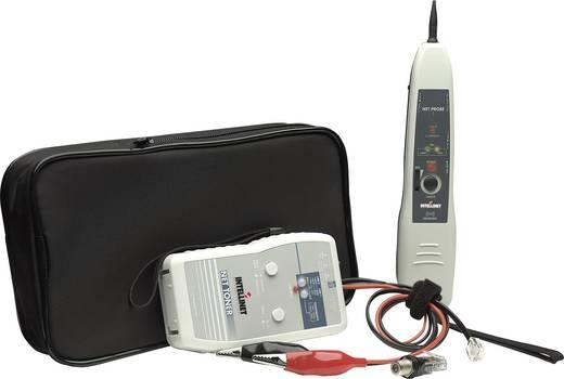 Vezetékvizsgáló kábelteszter és hanggenerátoros vezetékkereső RJ11,RJ45, koax F csatlakozóval Intellinet 515566