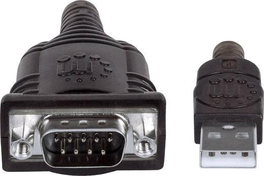 Soros portos USB 1.1 adatkábel (1x USB A 1.1 dugó - 1x D-SUB 9pólusú dugó) 0.45 m Manhattan 205153
