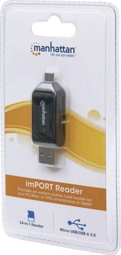 Mikro USB - USB adapter, kártyaolvasóval, OTG funkcióval Manhattan 406215