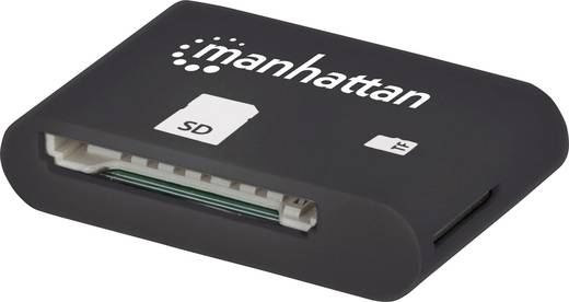 Mikro USB-s kártyaolvasó OTG funkcióval Manhattan 406208