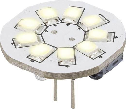 LED-es fényforrás, 16.75 mm 12 V G4 1.5 W = 10 W Nappalifény-fehér, Renkforce,