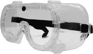Munkavédelmi védőszemüveg, gumipántos, polikarbonát EN 166 2662