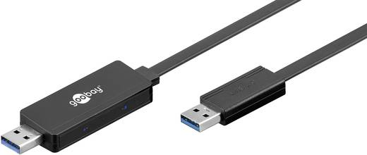 USB 3.0 Csatlakozókábel [1x USB 3.0 dugó, A típus - 1x USB 3.0 dugó, A típus] 2 m Fekete Goobay