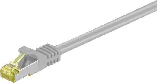 RJ45 Patch kábel, hálózati LAN kábel CAT 7 S/FTP [1x RJ45 dugó - 1x RJ45 dugó] aranyozott 2 m Szürke Goobay 91603