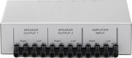 Hangszóró átkapcsoló, hangfal választó kapcsoló, 2 pár hangfalhoz, csavaros csatlakozással SpeaKa Professional 1289573