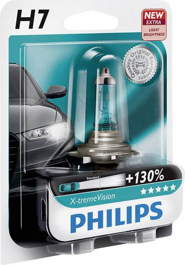 Philips X-tremeVision H7 12 V PX26d Ezüst