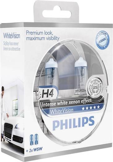 Philips WhiteVision H4 12 V 1 pár P43t Ezüst