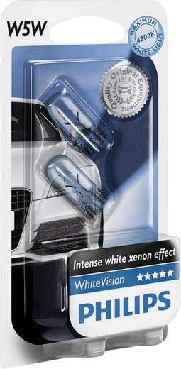 Philips WhiteVision W5W 12 V 1 pár W2.1x9.5d EzüstÜveg
