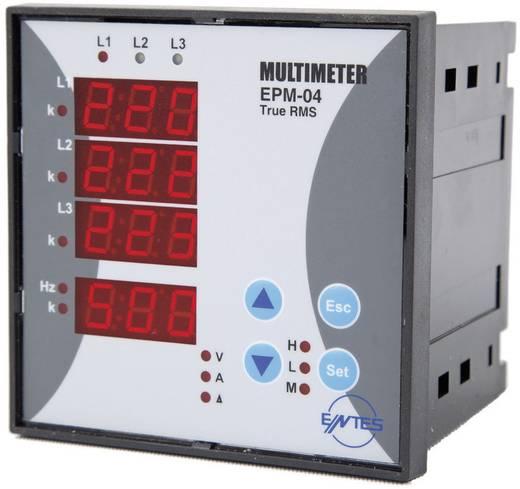 Programozható 3 fázisú beépíthető AC multiméter, feszültség, áram, frekvencia, üzemóra, ENTES EPM-04-96