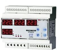 Programozható 3 fázisú DIN sínes AC multiméter, feszültség, áram, frekvencia, üzemóra, ENTES EPM-04C-DIN (101479) ENTES
