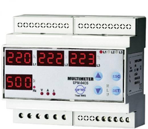 Programozható 3 fázisú DIN sínes AC multiméter, feszültség, áram, frekvencia, üzemóra, ENTES EPM-04C-DIN