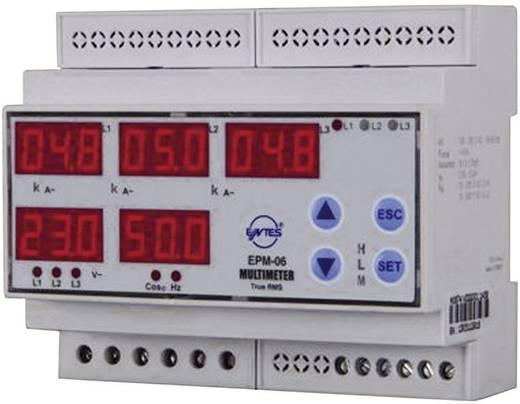 Programozható 3 fázisú DIN sínes AC multiméter, feszültség, áram, frekvencia, üzemóra, ENTES EPM-06C-DIN