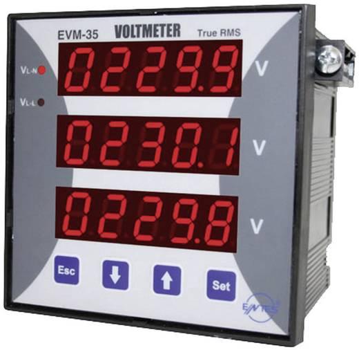 Programozható 3 fázisú beépíthető AC feszültségmérő műszer, ENTES EVM-35-96