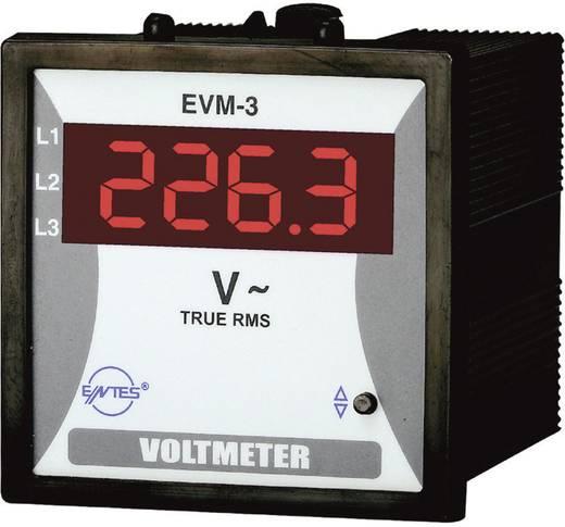 Programozható 1 fázisú AC feszültségmérő műszer, ENTES EVM-3-72