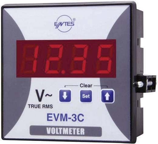 3 fázisú beépíthető AC feszültségmérő műszer, ENTES EVM-3-96