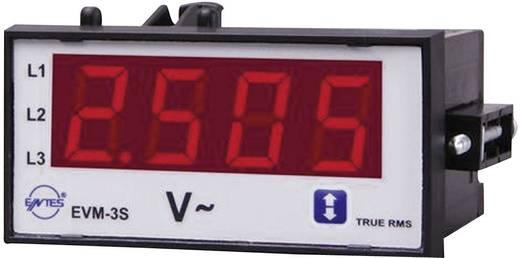 Programozható 1 fázisú beépíthető AC feszültségmérő műszer, relés, ENTES EVM-3C-48