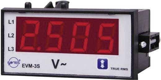 3 fázisú beépíthető AC feszültségmérő műszer, ENTES EVM-3S-48
