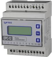 Impulzusszámláló, 12 számláló bemenettel, kalapsínhez, ENTES EPC-12 (101474) ENTES