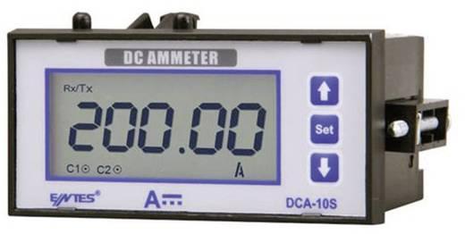 Programozható beépíthető DC árammérő műszer, RS-485, 2 db relés kimenet, 44 x 91 mm, ENTES DCA-10CS