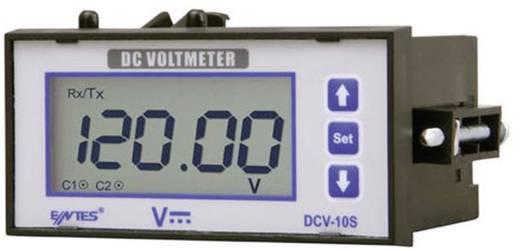 Programozható beépíthető DC feszültségmérő műszer, RS-485, 2 db relés kimenet, 44 x 91 mm, ENTES DCV-10CS