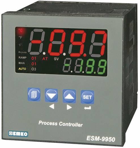 PID hőmérséklet szabályozó, J, K, R, S, T, B, E, N, Pt100, relés, 5 A, RS 232, 105 x 48 x 48 mm, Emko ESM-4450