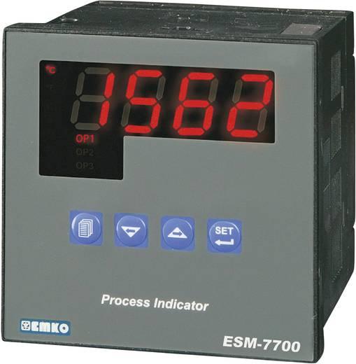 Hőmérséklet szabályozó, J, K, R, S, T, B, E, N, Pt100, relés, 5 A, RS 232, 76 x 72 x 72 mm, Emko ESM-7700