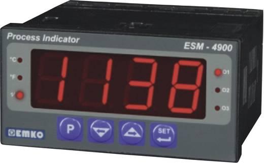 Hőmérséklet szabályozó, J, K, R, S, T, B, E, N, Pt100, 76 x 96 x 48 mm, Emko ESM-4900
