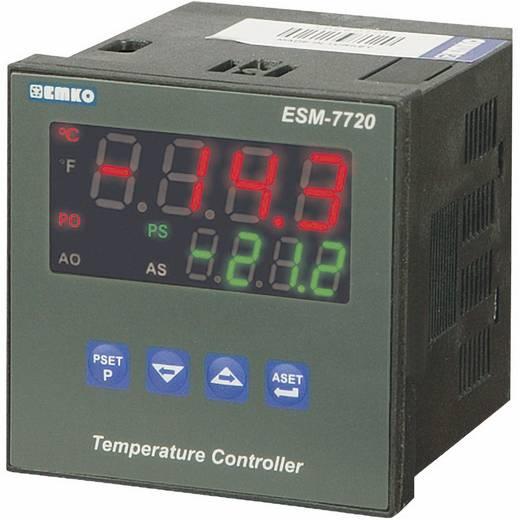PID hőmérséklet szabályozó, J, K, R, S, T, Pt100, relés, 5 A, 84 x 72 x 72 mm, Emko ESM-7720