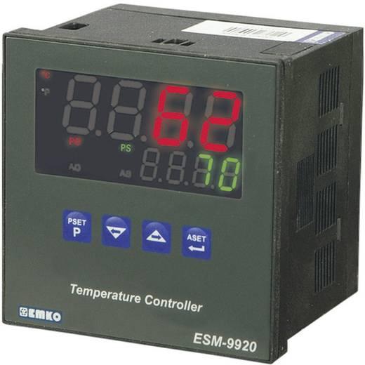 PID hőmérséklet szabályozó, J, K, R, S, T, Pt100, relés, 5 A, 84 x 96 x 96 mm, Emko ESM-9920