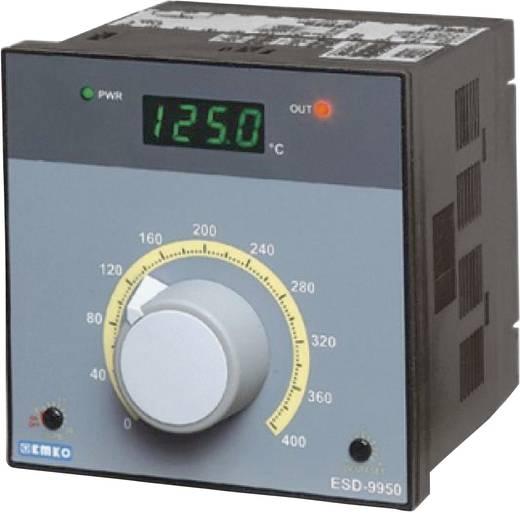 Hőmérséklet szabályozó, J, K, R, S, Pt100 0 - +400 °C, relés, 5 A, SSR, 76 x 96 x 96 mm, Emko ESD-9950