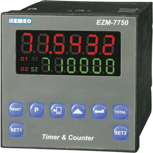 6 jegyű előre beállított számláló időzítővel, RS-485, 69 x 69 mm, Emko EZM-7750.2.00.2.0/01.01/0.0.0.0