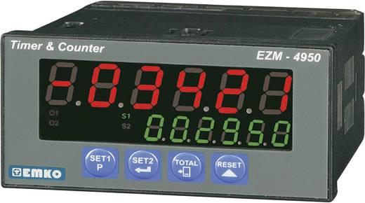 6 jegyű előre beállított számláló időzítővel, RS-485, 92 x 46 mm, Emko EZM-4950.2.00.2.0/01.01/0.0.0.0