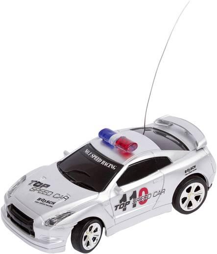 RC távirányítós modellautó 1:58 méretű rendőrautó, ezüst 27/40 MHz-es Invento 50009904