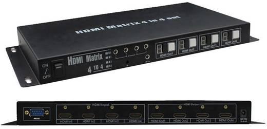 4 portos HDMI Matrix, elosztó switch 4 bemenet - 4 kimenet Inakustik Exzellenz 9120044