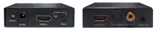 HDMI konverter 1 HDMI bemenet - 1 Optikai, Toslink vagy RCA kimenet Inakustik Exzellenz 9120601