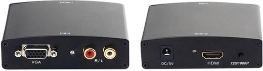VGA - HDMI konverter 1 VGA vagy RCA bemenet - 1 HDMI kimenet beépített képátméretezővel Inakustik Exzellenz 9120604