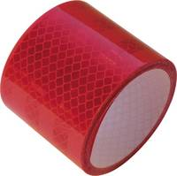 Fényvisszaverős szalag, 2 m x 50 mm, piros, LAS (10215) LAS