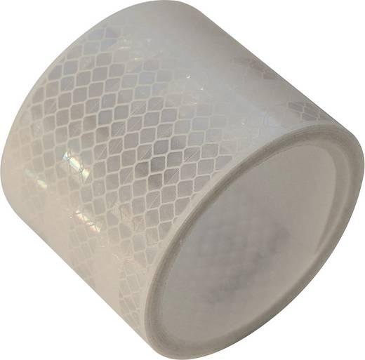 Fényvisszaverős szalag, 2 m x 50 mm, fehér, LAS