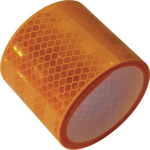 Fényvisszaverős szalag, 2 m x 50 mm, sárga, LAS